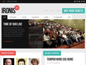 JA Ironis Joomla Template | Joomla Events Template | Joomla K2 Component Template