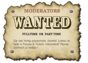 JoomlArt is hiring moderators for FULL TIME & PART TIME you can earn $300 to $1000
