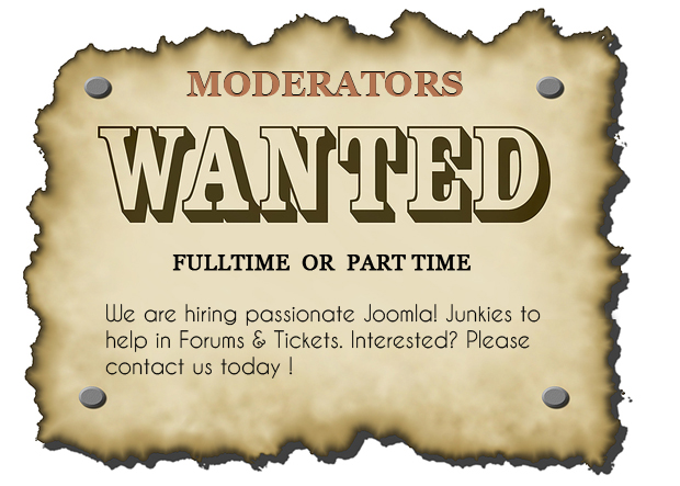 Joomla Moderators Jobs
