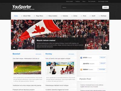 YouSporter Joomla Template Joomla Sports Magazine Template - Online magazine template