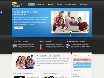 Zt hemi joomla education schooling template zt hemi joomla education template maxwellsz