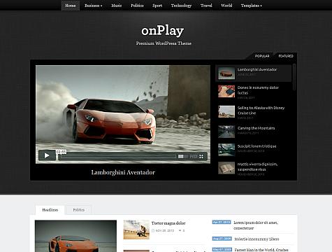 onPlay WordPress Advanced Magazine Theme