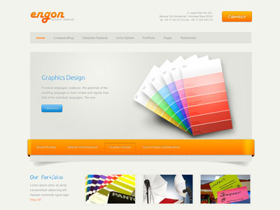 Engon Joomla Corporate Portfolio Template