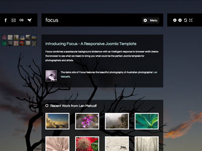 Focus Joomla Photographers Template