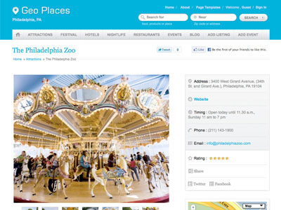 Geo Places v4 WordPress City Portal Theme