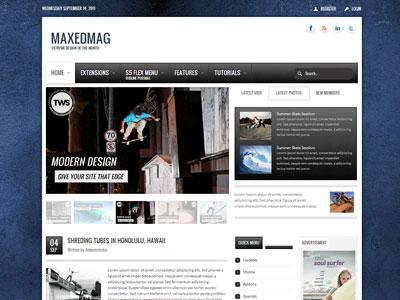 Maxed Mag Joomla Template Best Joomla Premium Magazine Style Template