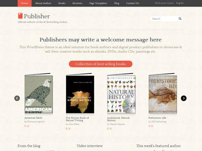 Publisher WordPress Products Theme
