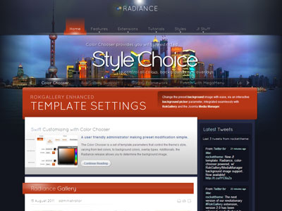 Radiance Joomla Background Image Template