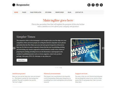 Responsive WordPress Photographer Theme