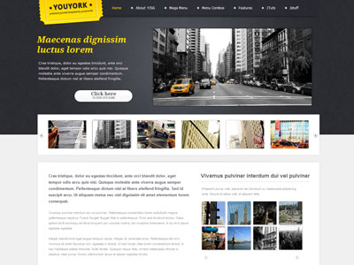 Youyork Joomla City Portal Template