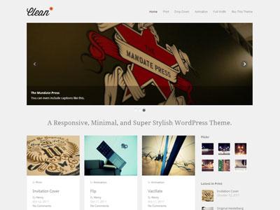 Clean WordPress Minimal Portfolio Theme