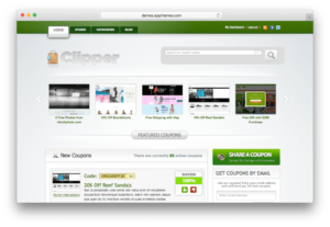 Clipper WordPress Coupon Code Management Theme