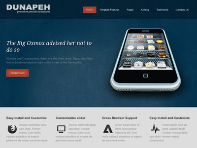 Dunapeh Joomla Template Mobile Ready