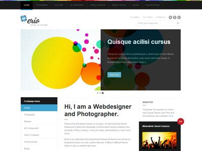 JA Erio Joomla Web Designer Template
