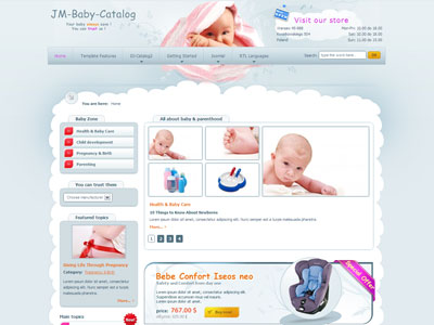 JM Baby Catalog Joomla Health Care Template