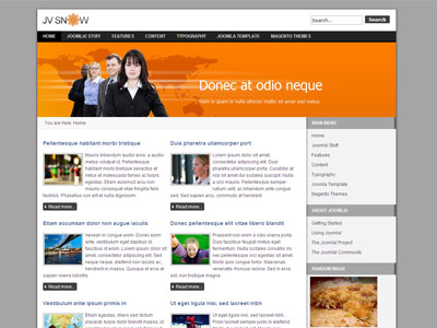 Jv snow free joomla portfolio template for business jv snow free joomla business template flashek Image collections