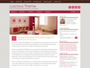 Luscious Child Theme for Women Bloggers