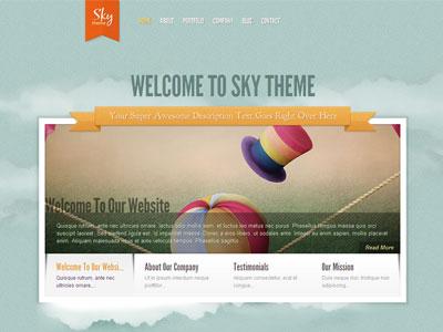 Sky WordPress Portfolio Slider Theme