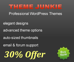 30 Theme Junkie Discount Coupon Code