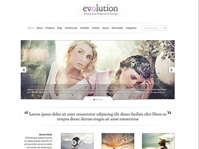 Evolution Wordpress Theme | Wordpress Responsive Web Design Theme