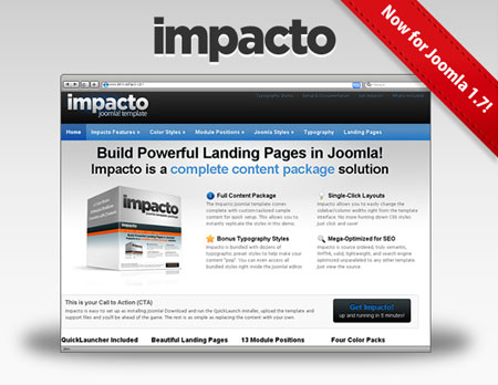 Impacto Joomla Product Promotions Template