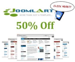 50% OFF JoomlArt Coupon Code on all Joomla Templates & Membership Club