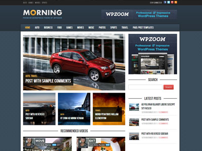Morning Wordpress Magazine Style Theme for Online News with Custom ...