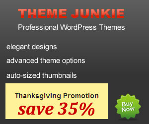 Get 35% Off Theme Junkie Discount Coupon Code for Thanksgiving Day!