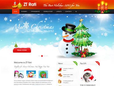 ZT Rati Joomla Merry Christmas Template