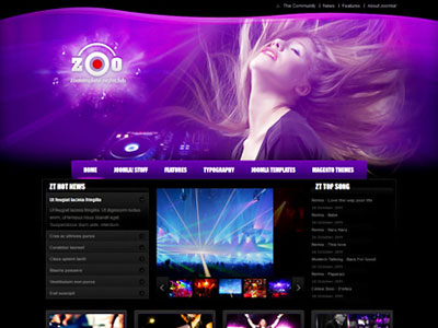 Zt Zoo Joomla Night Club Template