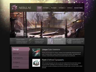 Nebulae WordPress Gaming Theme