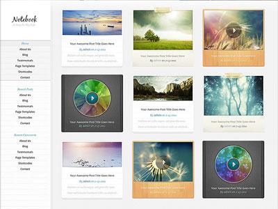 Notebook Wordpress Theme | Wordpress Multimedia Theme using HTML5 ...