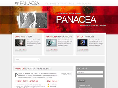 Panacea Drupal 7 Theme