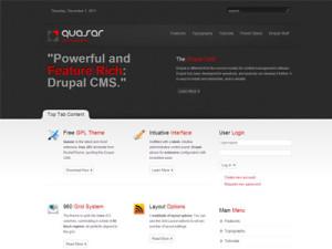 Quasar Drupal Theme | Free Premium Drupal 7 Theme