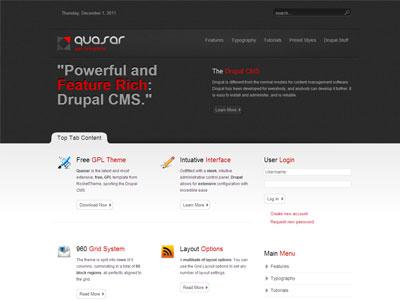 Quasar Free Drupal 7 Theme