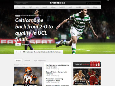 SportEdge WordPress Live Score Theme