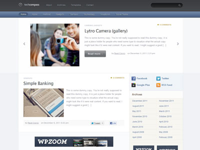 TechCompass WordPress Technology Theme
