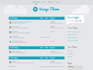 Visage phpBB3 Style Theme | Phpbb Forum Theme for Phpbb Software
