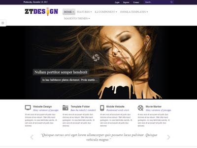 ZT Design Joomla Online Portfolio Template for Business Showcase