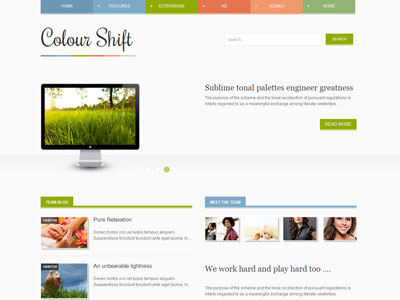 Colour Shift Joomla Responsive Template