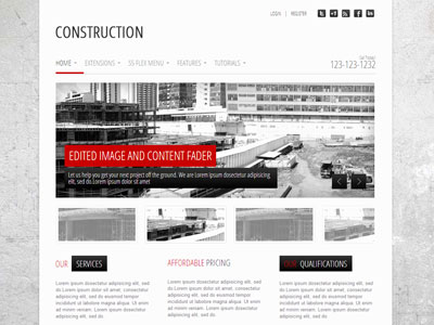 Construction Joomla Business Company Template