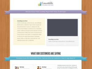 Convertible Wordpress Video Landing Page Theme
