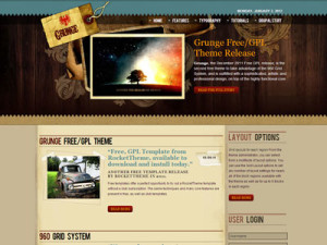 Grunge Free Drupal Theme | Free Drupal 7 SEO Theme with 60 Block Regions