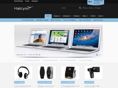 Halcyon Joomla Template | Professional Joomla eCommerce Template ...