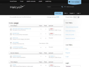 Halcyon phpBB3 Style Template | Professional phpBB3 Commercial or Business Forum Template