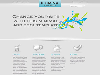 Ilumina Joomla Template | A Clean Modern Corporate Joomla Template