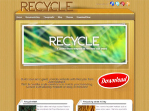 Recycle Free Joomla Template