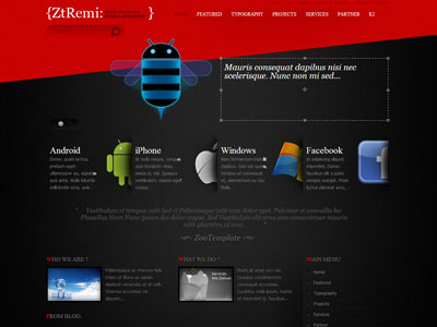 ZT Remi Joomla Software Template for Corporate Business