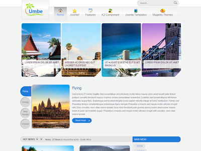 ZT Umbe Joomla Travel Agency Template for World Journey Trip