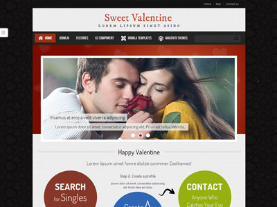 ZT Valentine Joomla Dating Template
